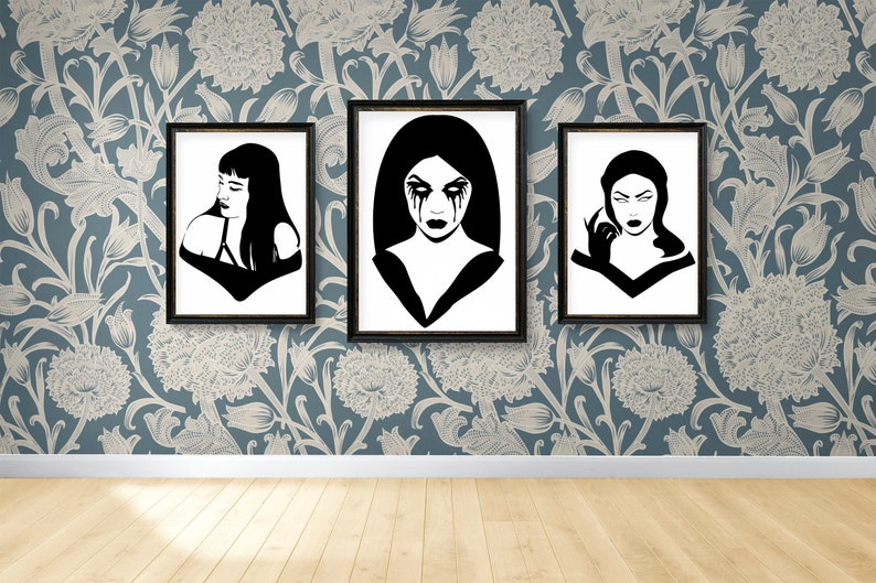 SVG  Gothic Girl No 4 // Universally Compatible Cut Files // image 0