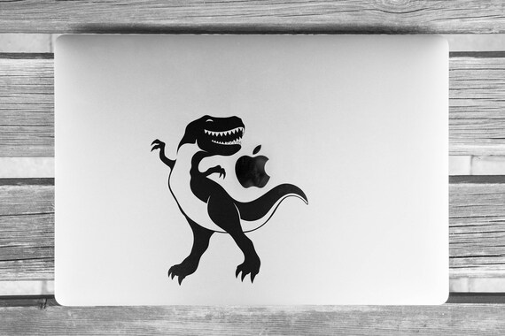 T REX the Jurassic Dancer Dinosaur  Decal Sticker, Dino, TREX, TREX can dance... well he tries to!, mac, Macbook Decal Sticker