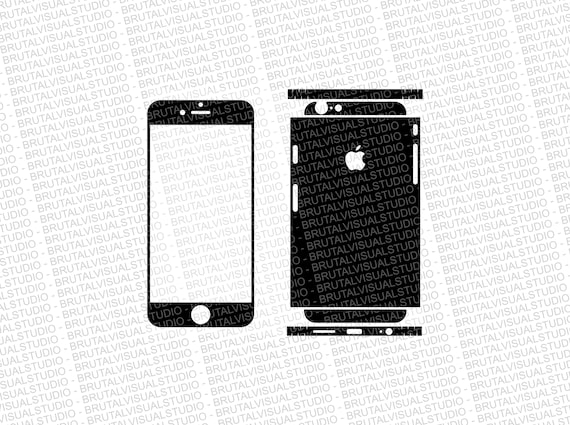Iphone 6 - Skin Cut Template  Ver.2 - Templates for cutting or machining - Digital Download - Plotter, CNC, Lasers - SVG - Fully Sliced 3