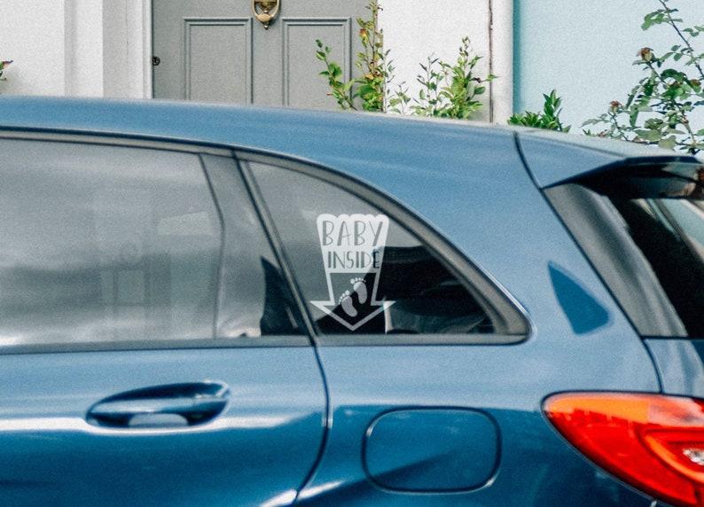 SVG  Baby Inside Car Window Decal // Life saver warning // image 0