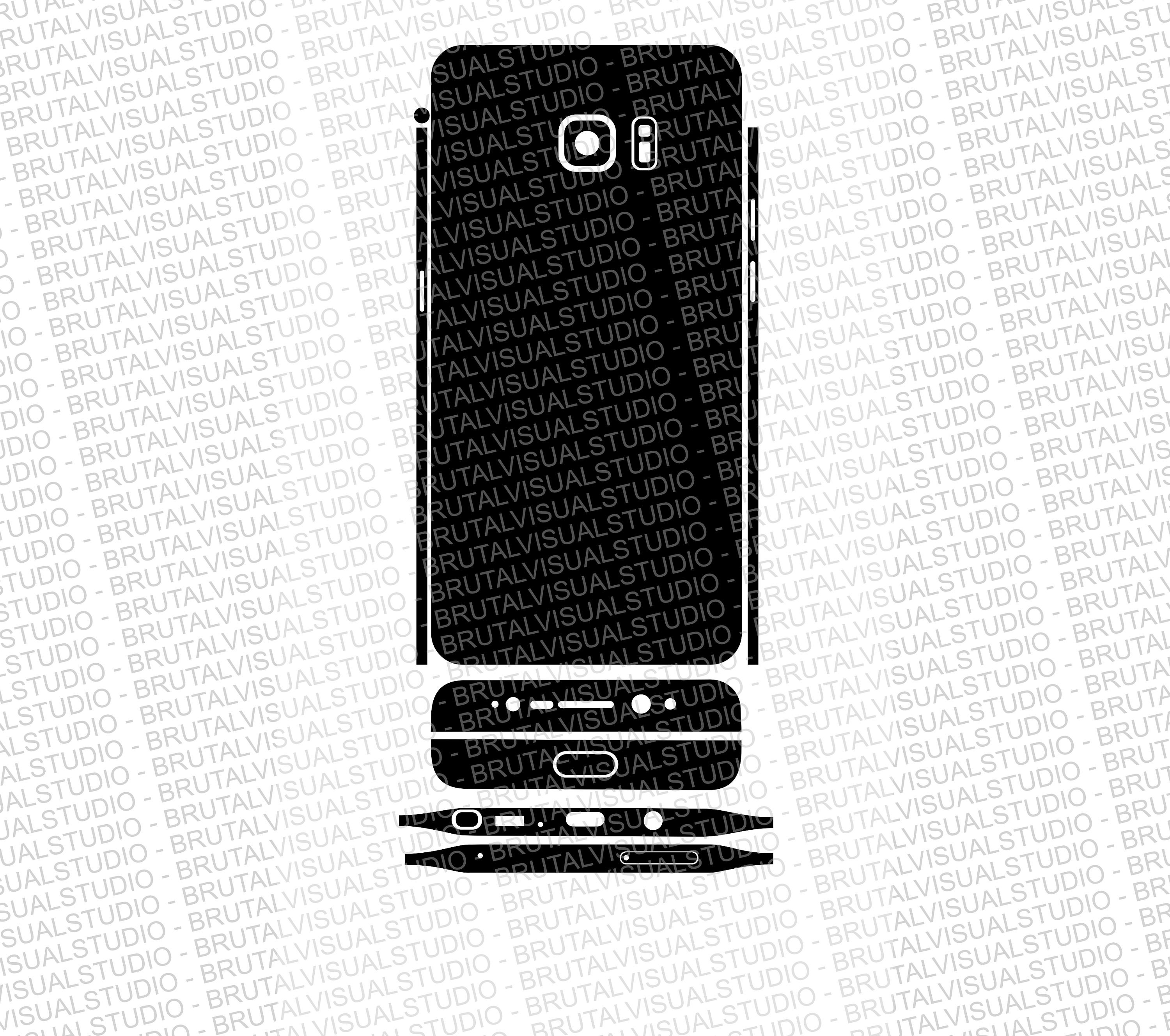 Samsung Galaxy Note 7 - Skin Cut File Template - Templates
