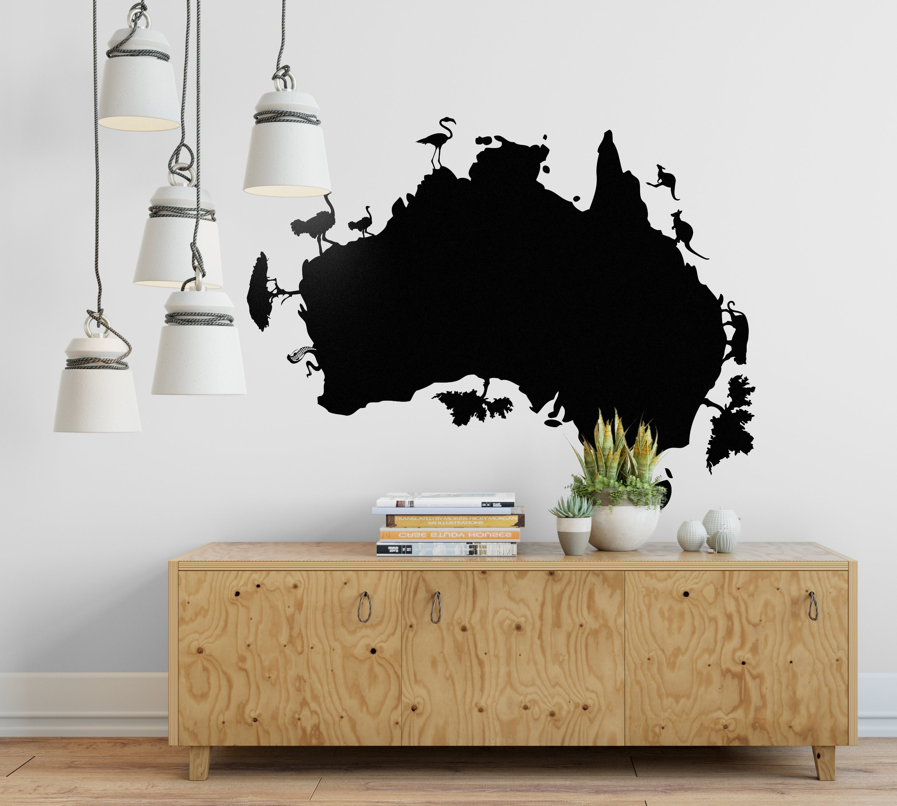 Ansprechend Wall Tattoo Galerie Von Australia Map Decal, Pictorial Style Map, Decals,