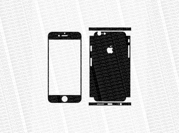 Iphone 6 - Skin Cut Template  Ver.5 - Templates for cutting or machining - Digital Download - Plotter, CNC, Lasers - SVG - Partial Wrap 2