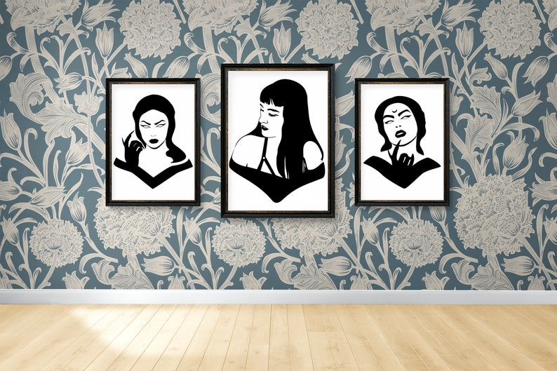 SVG  Gothic Girl No 1 // Universally Compatible Cut Files // image 0