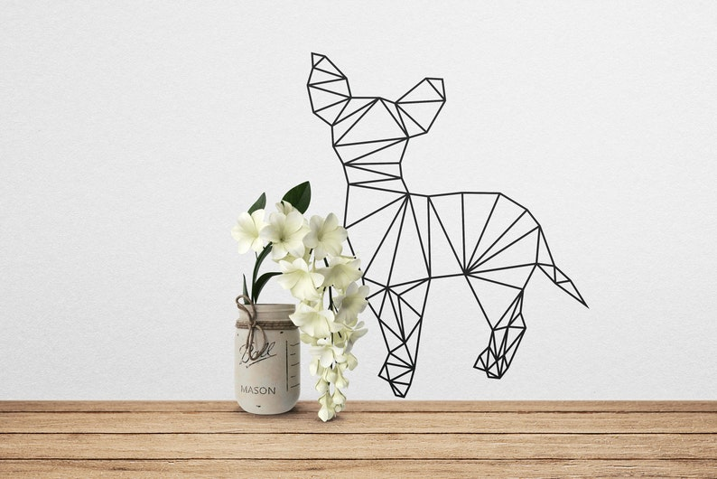 SVG  Low polygon chihuahua // LowPoly Designs // Vector // image 0