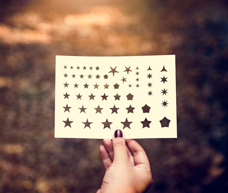 SVG  Star Set No 1 // Digital Stencil // Cut Files // Vector image 0