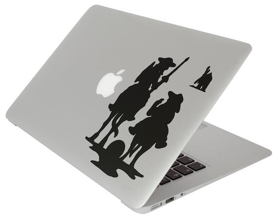 Don Quixote of La Mancha Decal Sticker for Apple Macbook, Miguel de Cervantes Saavedra Rocinante Spain alonso quixano sancho panza, V. 2.0