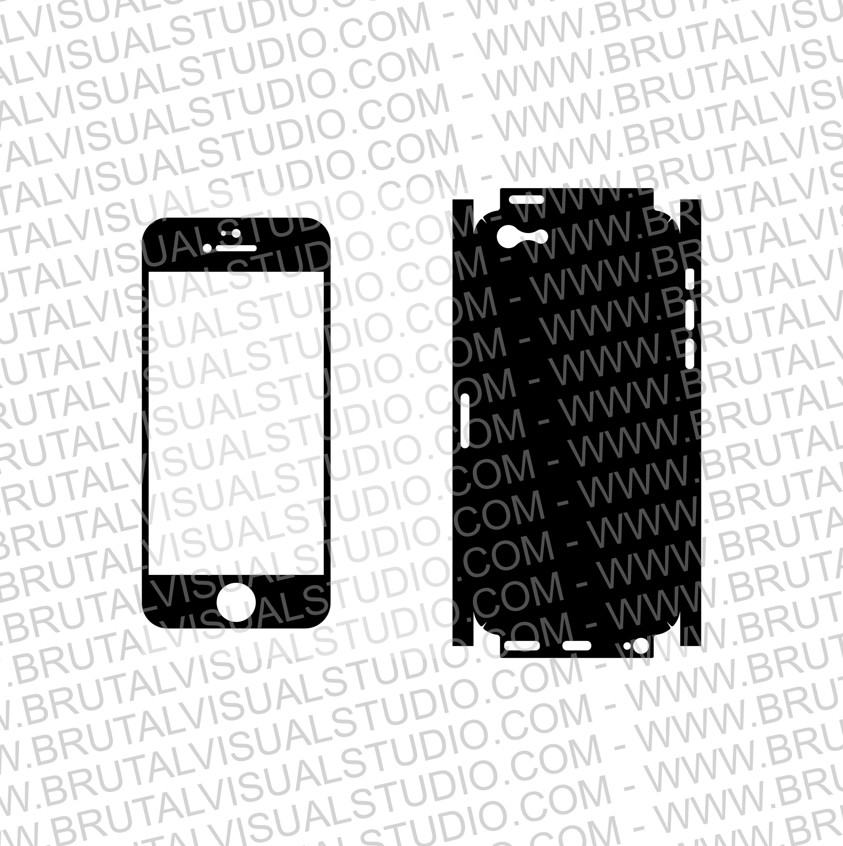 Iphone 5C - Skin Cut Template - Templates for cutting or ...