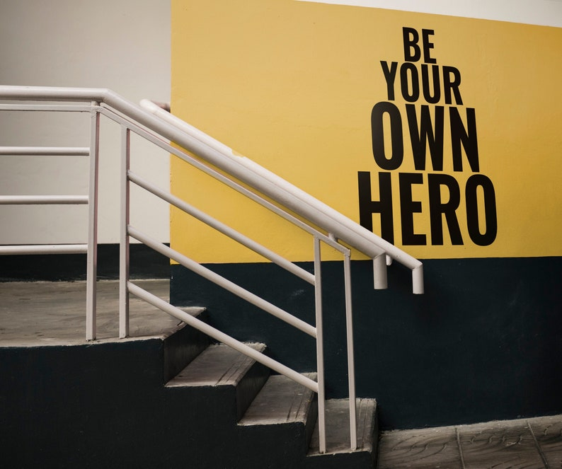 SVG  Be your own hero // eps pdf psd dxf jpg png bmp // image 0