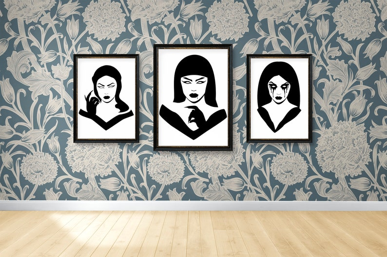 SVG  Gothic Girl No 5 // Universally Compatible Cut Files // image 0