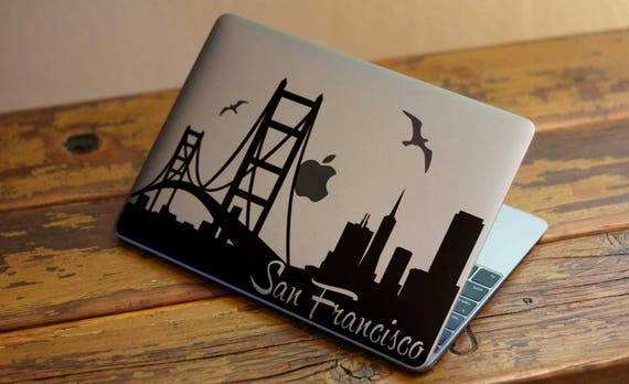 San Francisco Golden Gate Bridge Decal Sticker  | Laptop Macbook | Bridges, California, mac, Iconic, Monument, Macbook Decal Sticker