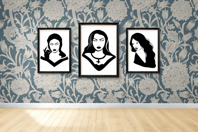 SVG  Gothic Girl No 7 // Universally Compatible Cut Files // image 0