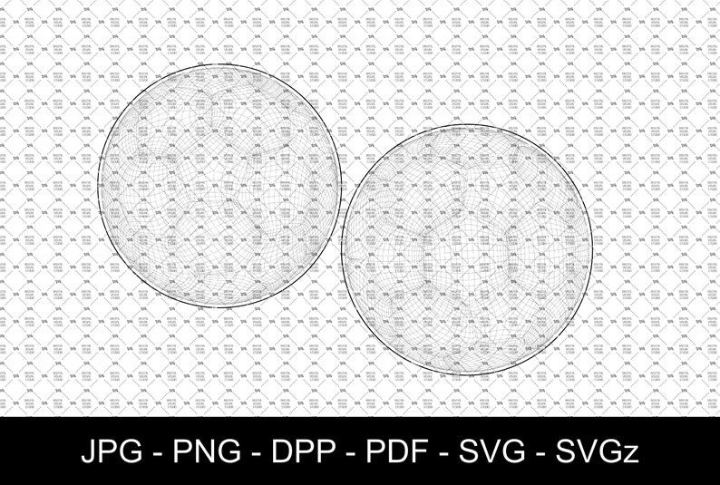 SVG  Soccer Ball in Wireframe // Vector // Ideal for CNCs & image 0