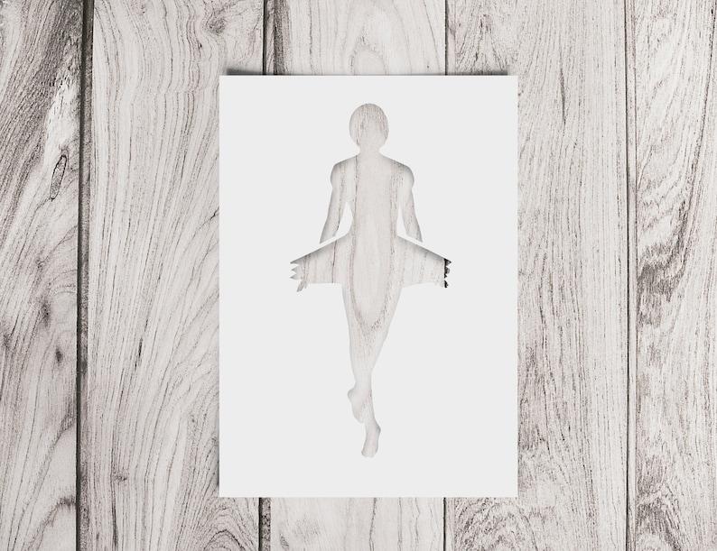 SVG  Ballet Girl No 2 Silhouette // Digital Stencils // image 0