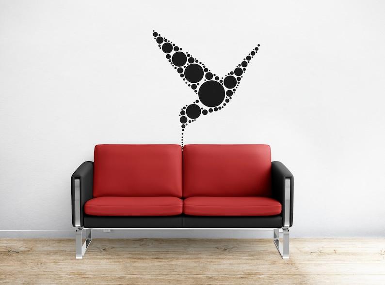 SVG  Polka Dot Styled Hummingbird Design // eps pdf psd dxf image 0