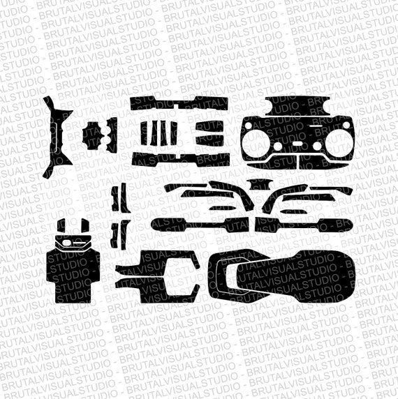 DJI Mavic AIR - Skin Cut Template  - Templates for cut or machining - Digital Download - Plotter, CNC, Laser Cutter - Drone Skin Cut File