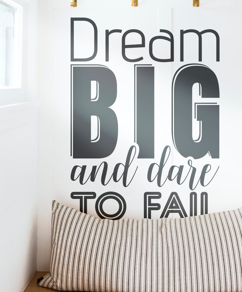 SVG  Dream Big and Dare to Fail // Motivational Vector image 0