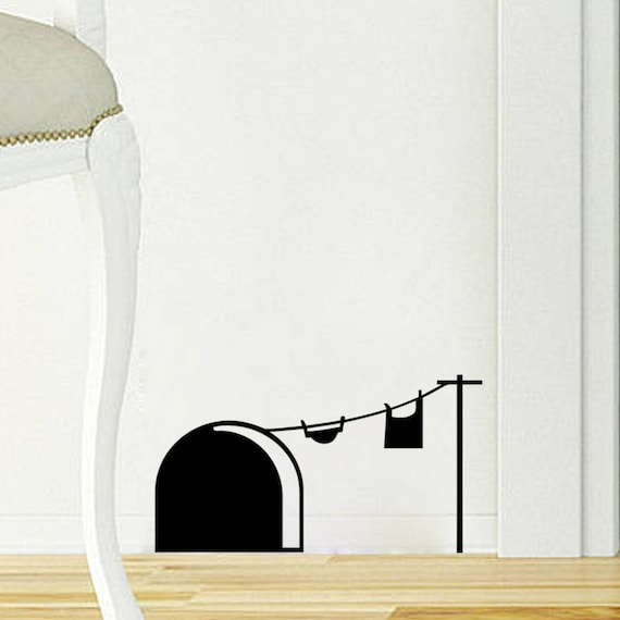 Home Sweet Home - Mice house with laundry wire, Size request, Many colors available, Cute and adorable mice collection for wall decor