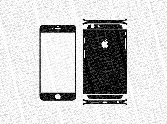 Iphone 6 Plus - Skin Cut Template  Ver.3 - Templates for cutting or machining - Digital Download - Plotter, CNC, Lasers - SVG - Easy Wrap 2