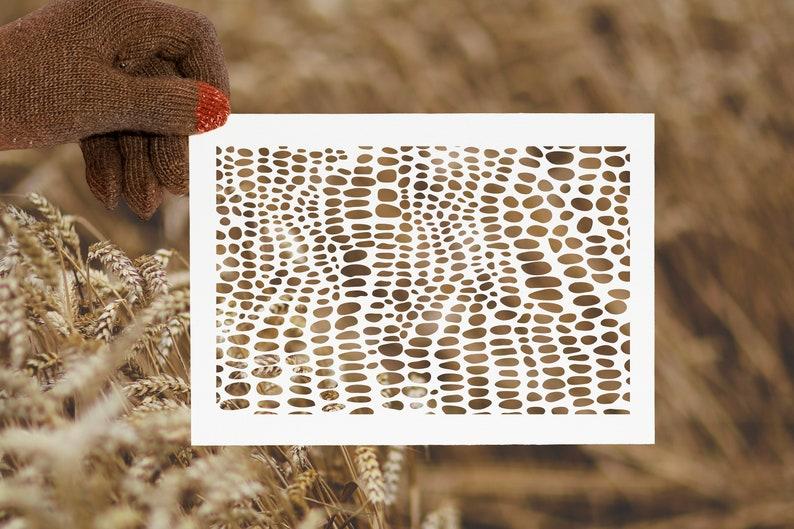 SVG  Organic Spots Digital Stencil // Cut Files // Vector // image 0