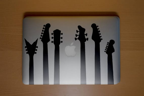 Musical Guitars Decal Sticker, Decal for Guitar and Music Lovers, Rock Metal Song Vinyl stickers, mac, Macbook Decal Sticker