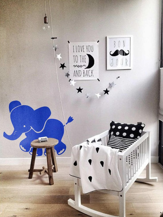 Baby Elephant  Wall Decal / Sticker, Wall decor for kids rooms, Children playrooms, Nurseries, etc , Magical Minds Decal Collection