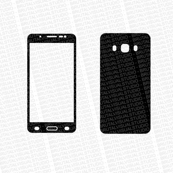 Samsung Galaxy J5 2016 - Skin Cut File Template - Templates for cutting or machining - Digital Download - Plotter, CNC, Lasers - Svg Cdr Ai