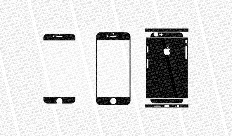 uk availability 5a0e7 94589 Iphone 6S - Skin Cut Template Ver.2 - Templates for cutting or machining -  Digital Download - Plotter, CNC, Lasers - SVG - Partial Cuts