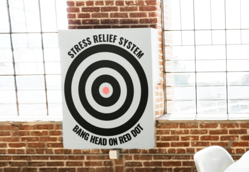 SVG  Stress Relief System // Bang head on red dot // image 0