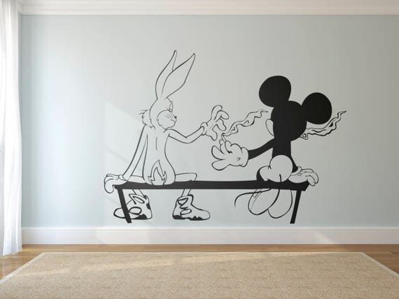 Stoners Funny Graffiti Mice Silhouette Mouse And Bunny Etsy