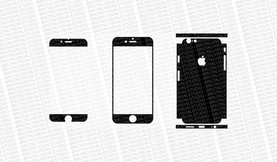 Iphone 6S - Skin Cut Template  Ver.3 - Templates for cutting or machining - Digital Download - Plotter, CNC, Lasers - SVG - SemiPartial Cuts