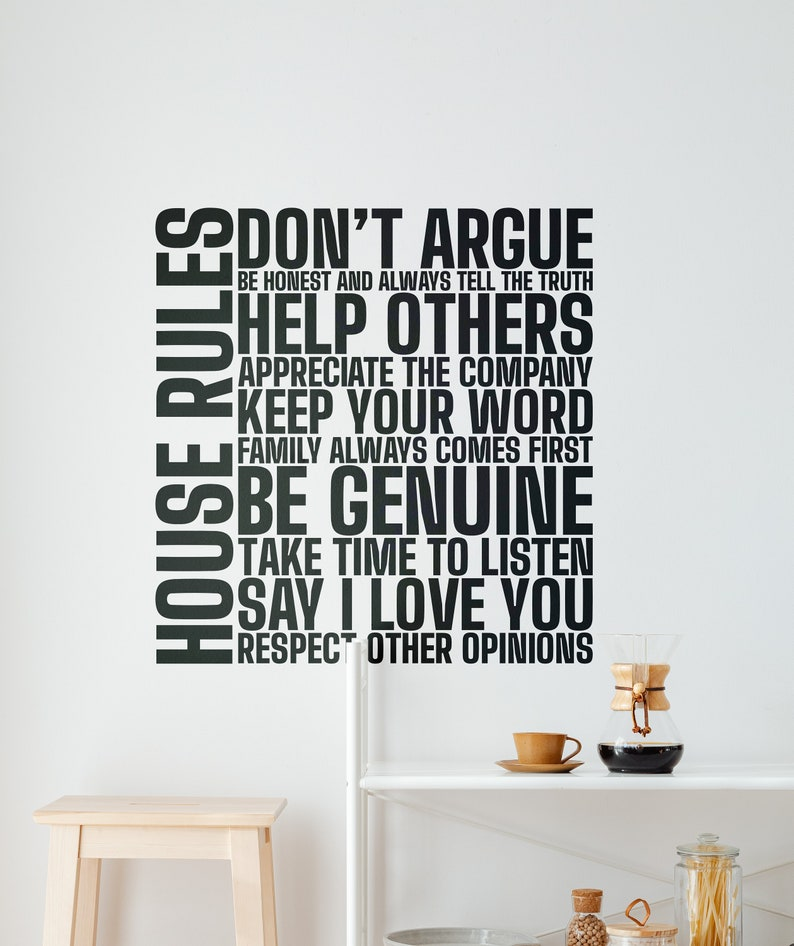 SVG  House Rules Motivational and Inspiring Vector Typography image 0
