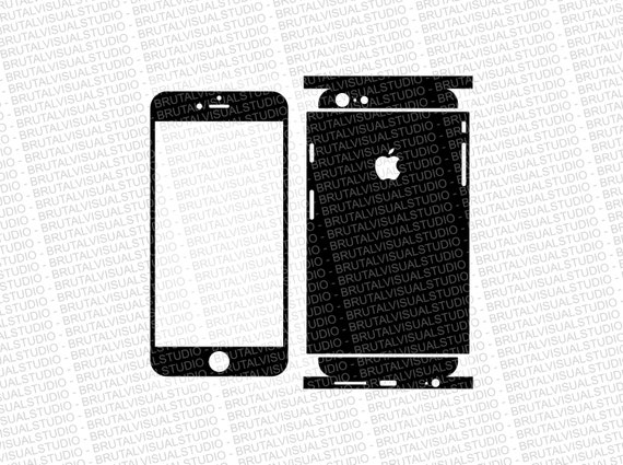 Iphone 6 Plus - Skin Cut Template  Ver.10 - Templates for cutting or machining - Digital Download - Plotter, CNC, Lasers - SVG - Partial