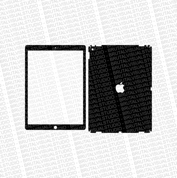 Apple iPad Pro 12.9 - GEN 1 - Skin Cut Template  - Templates for cutting or machining - Digital Download - Plotter, CNC, Laser Cutter - SVG