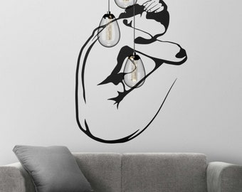 Study on the female nude - Decal Sticker on Vinyl