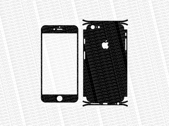Iphone 6 Plus - Skin Cut Template  Ver.9 - Templates for cutting or machining - Digital Download - Plotter, CNC, Lasers - SVG - Easy Wrap