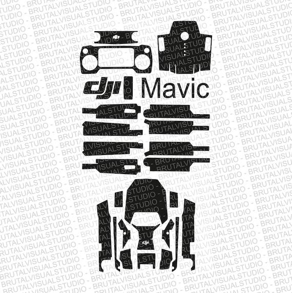 DJI Mavic Pro - Skin Cut Template  - Templates for cut or machining - Digital Download - Plotter, CNC, Laser Cutter - Drone Skin Cut File