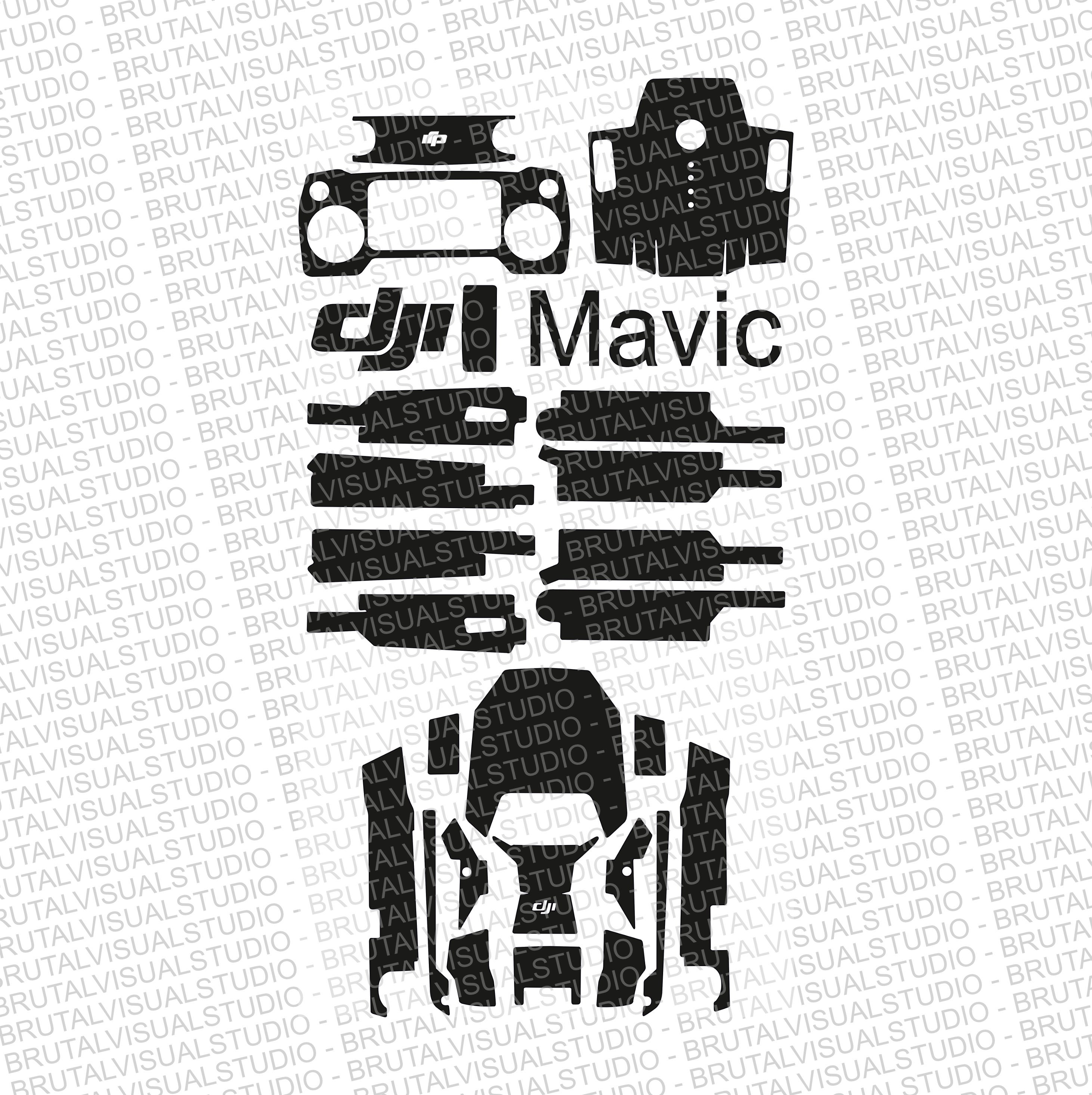 DJI Mavic Pro - Skin Cut Template - Templates for cut or machining ...