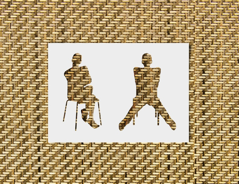 SVG  Androgynous Silhouette on a Chair // Digital Stencils // image 0