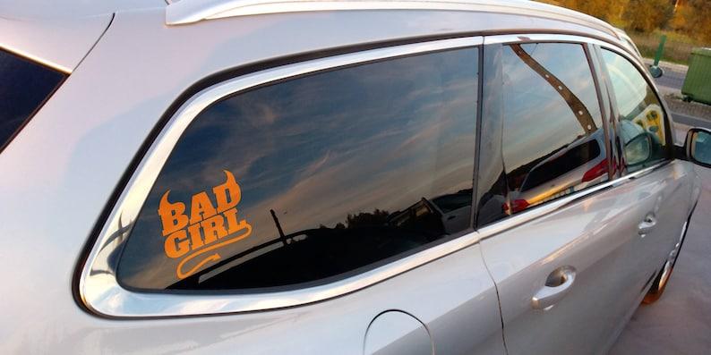 SVG  Bad Girl // Car Sticker Decal Template // Digital Item image 0
