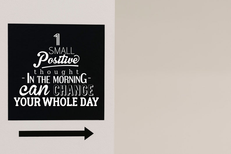SVG  One small positive thought in the morning can change image 0