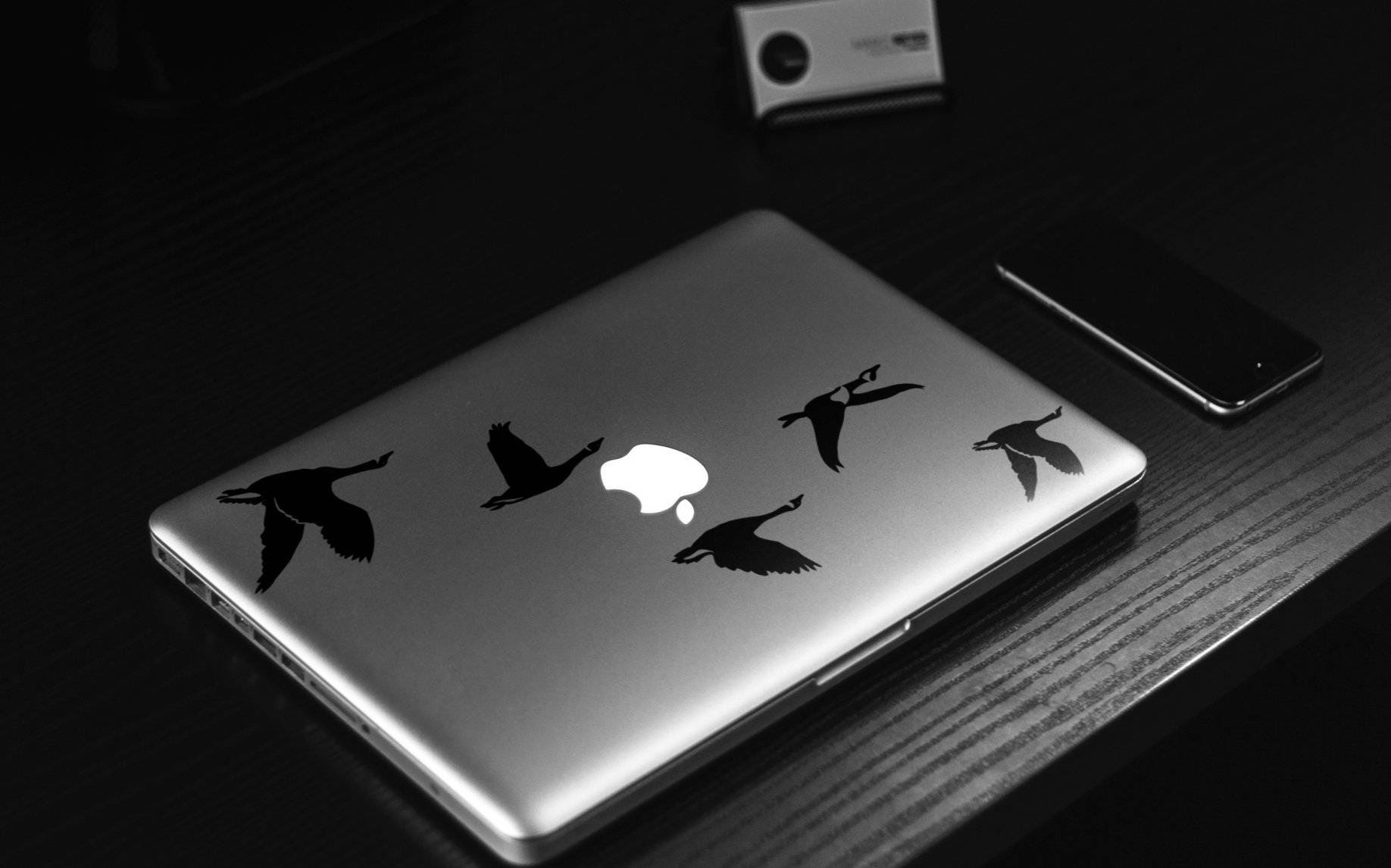 Flying Geese FlockDecal Sticker, Laptop Skin, mac, birds