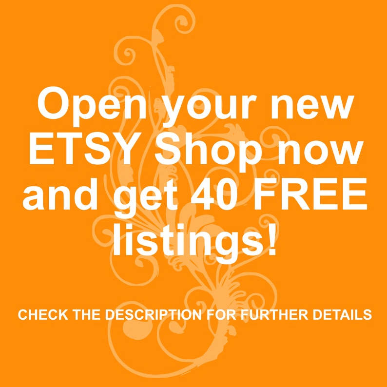 Get your 40 FREE listings on ETSY // Because our friends just image 0