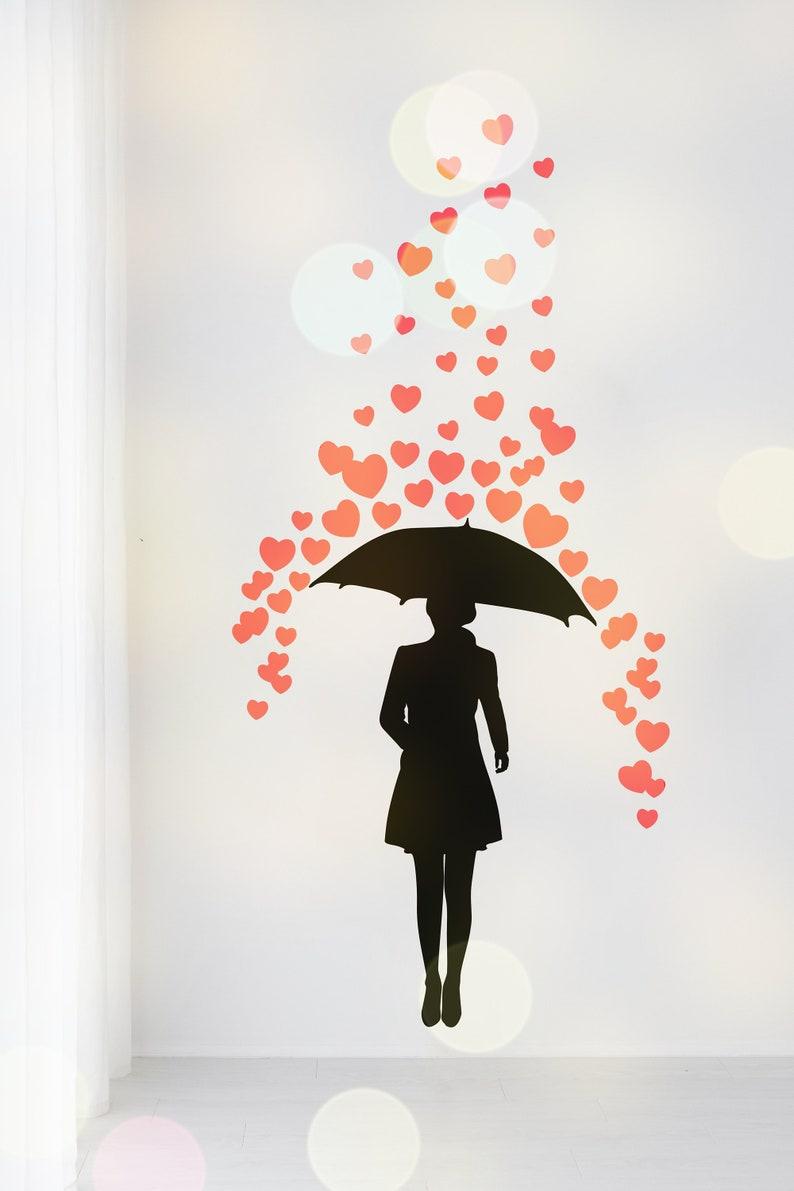 SVG  Falling of hearts // Raining hearts // Universally image 0