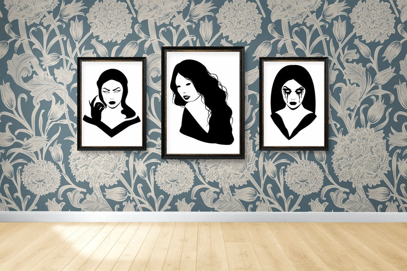 SVG  Gothic Girl No 6 // Universally Compatible Cut Files // image 0