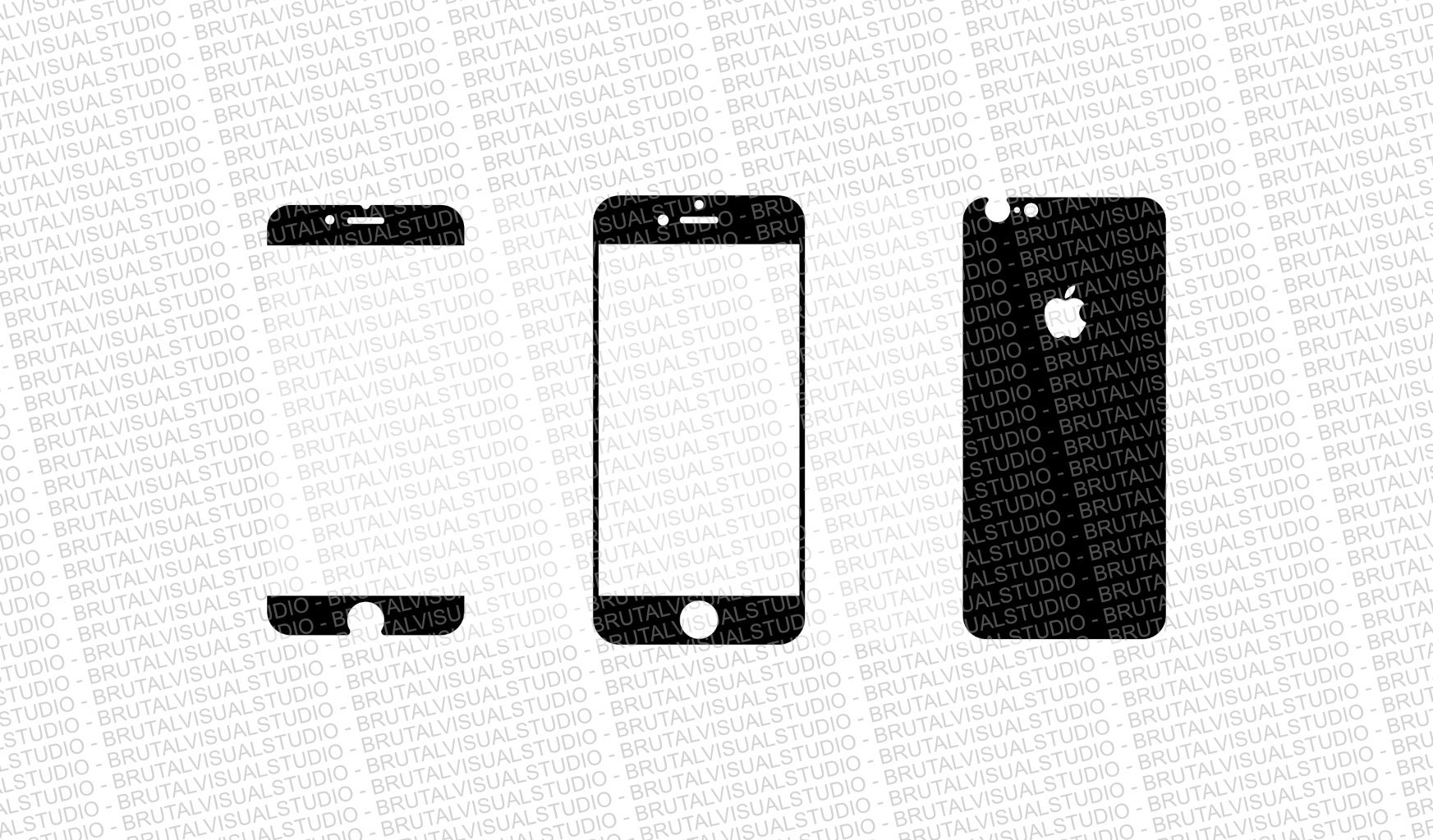 Iphone 6S Skin Cut Template Ver.4 Templates for cutting | EtsyIphone 4 Template