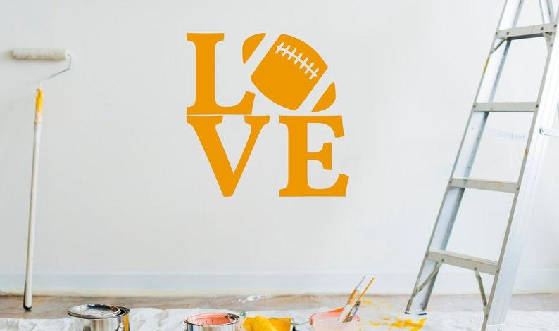 SVG  Love FootBall // Vector Typography // Universally image 0