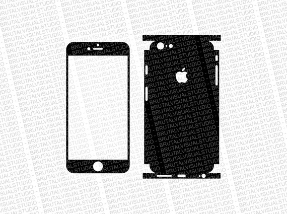Iphone 6 Plus - Skin Cut Template  Ver.4 - Templates for cutting or machining - Digital Download - Plotter, CNC, Lasers - SVG - Full Wrap 2