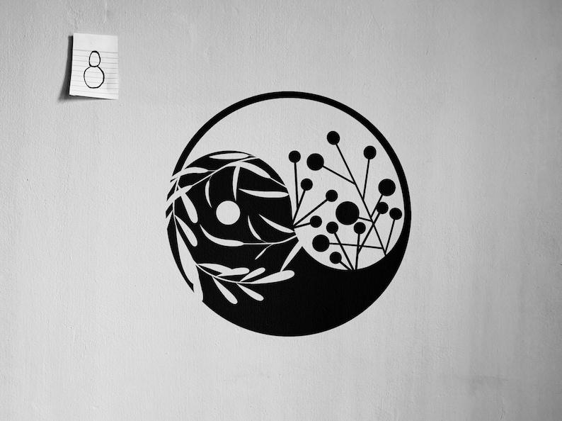 SVG  Yin Yang wall decal // Taoism // Vector // Universally image 0
