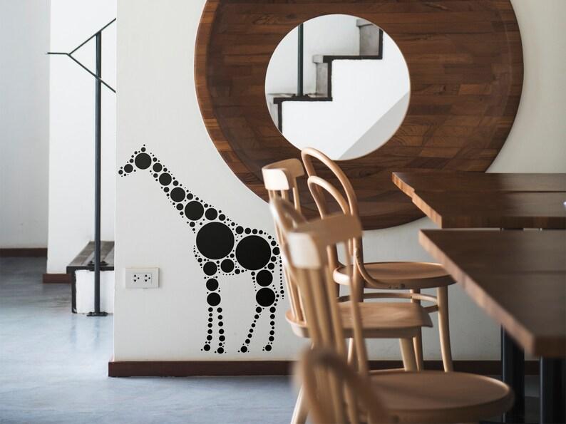 SVG  Polka Dot Styled Giraffe Design // eps pdf psd dxf jpg image 0